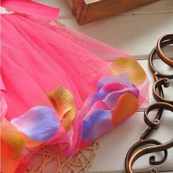 Baby Girl Summer Fashion Flower Dress (Red) - 4