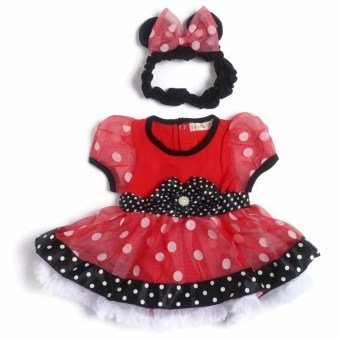 Baby Girl Tutu Dress (Red/Black) for 3 Months Old