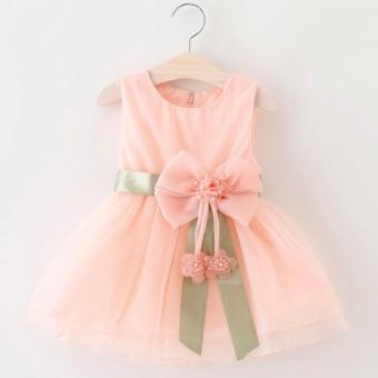 Baby Girls Dress Summer Infant Party Brithday Dress Formal TutuDresses (Pink) - intl - 2