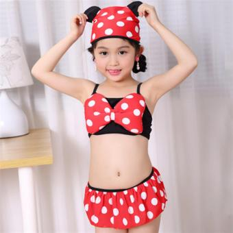 Baby Girls Kids Minnie Mouse Bikini Set Swimwear Child Bathing SwimSuit Costume - intl