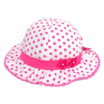 Baby Hat Cute Soft Cotton Infant Polka Hat Flower Summer Bucket HatRain Sunday Hat Girls Kids Fashion Photography Hat