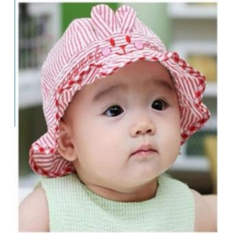 Baby Hat Ruffle Toddler Summer Hat Stripes Bunny Infant Sun HatPrincess Bucket Hat