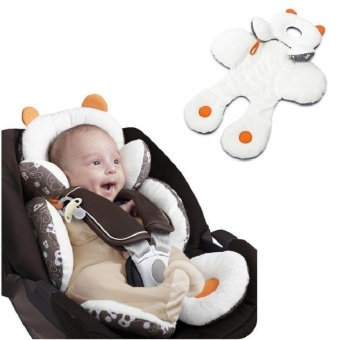Baby Infant Safety Car Seat Stroller White Soft Cushion Pad Liner Mat Head Neck Body Support Pillow - intl