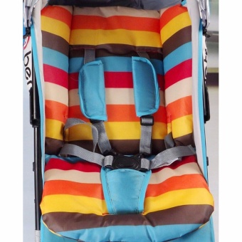 Baby Infant Stroller Seat Pushchair Cushion Cotton Mat RainbowColor Soft Thick Pram Cushion Chair BB Car Seat Cushion - intl Price Philippines