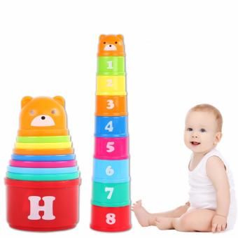 Baby Jenga Toys Sets of Cups Educational Toy - Intl Price Philippines