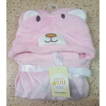 Baby Kid Hooded Bathrobe Bath Towel (PINK)