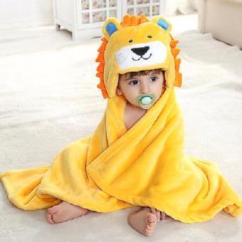 Baby Kid Hooded Bathrobe Bath Towel (PINK) - 2