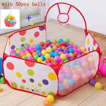 Baby Kids Collapsible Ocean Ball Pool Tent with 50pcs Colorful Balls - Intl Price Philippines