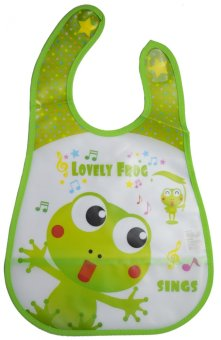 Baby Kids Towel Waterproof Lunch Bibs (Lovely Frog) Price Philippines