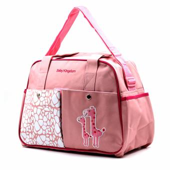 Baby Kingdom Baby Diaper Bag, Giraffe Pink