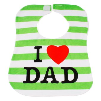 Baby Lab I Love Mom and I Love Dad Cotton Bib Pack of 2 - picture 2