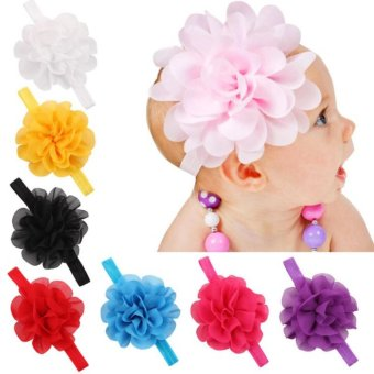 Baby lily Bear Fashion 8pcs Baby Girls Sweeet Headbands Head Bands - intl