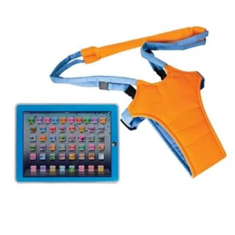 Baby Moon Walker Safety Harness (Orange) with Ypad MultimediaLearning Computer Toy Tool Blue