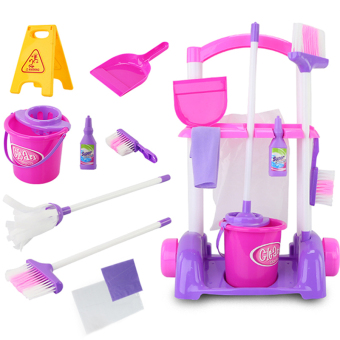 Baby Mop mini cleaning trolley broom