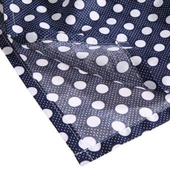 Baby Mum Breastfeeding Nursing Poncho Cover Up Cotton(Dark BlueDots) - 4