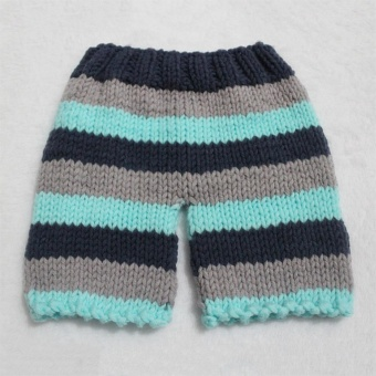 Baby Newborn Photography Props Handmade Knit Crochet Costume Striped Hat And Pants For 0 to 6 Months Girl Boy - intl - 4