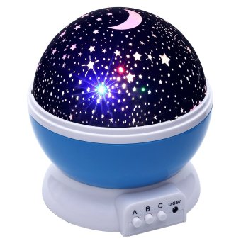 Baby Night Light Moon Star Projector 360 Degree Rotation With USB Cable