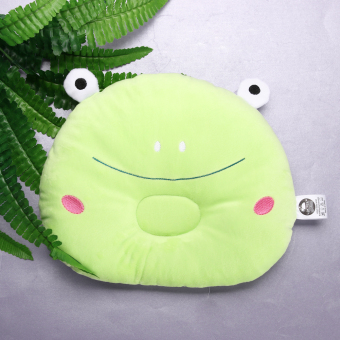 Baby Prevent Flat Head Pillow Soft Sleeping Positioner (Green Frog)- intl - 3