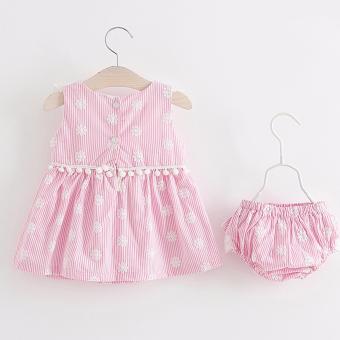 Baby Romper Baby Dress Set Infant Baptismal Dress Toddler Birthday Costume Christening Dress Bodysuit 2pcs Clothing Set Floral Ruffles - 2