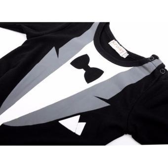 Baby Romper Gentleman Suits (Black) - 3