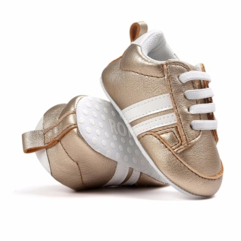 Baby Shoes Soft Bottom Anti-skid PU Leather Shoe For Infant ToddlerBoys Girls(S,Gold) - intl