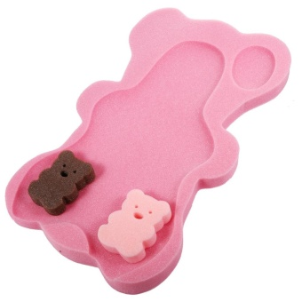 Baby Shower Bath Seat Infant Non Slip Soft Pad Mat Body SupportCushion Sponge Rose Red - intl Price Philippines