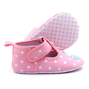 Baby Step Cupcake Hearts Baby Girl Shoes (Pink) - 2