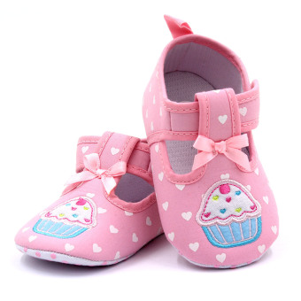 Baby Step Cupcake Hearts Baby Girl Shoes (Pink) - 3