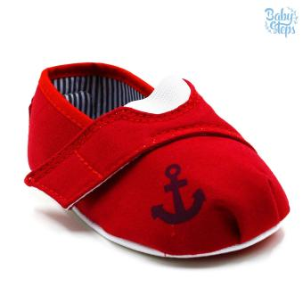 Baby Steps Anchor Baby Boy Shoes (Red)