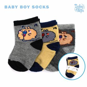 Baby Steps Baby Boy Socks Set of 3 (Multicolor)