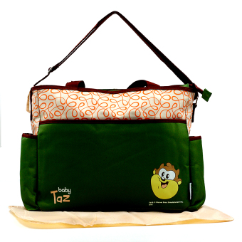 BABY STEPS Baby Taz Fashion Diaper Bag (Green)