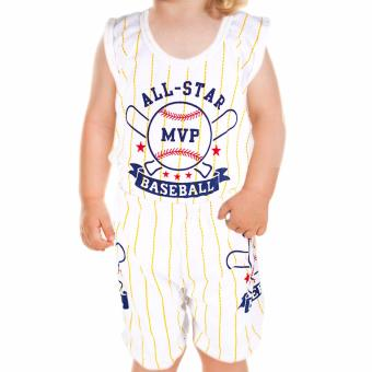 Baby Steps Basic Wear All Star Baseball MVP Baby Boy Terno ClothingSet