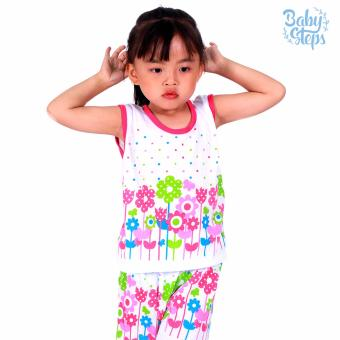 Baby Steps Basic Wear Flower Dots Baby Girl Terno Clothing Sets(Multicolor)