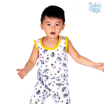 Baby Steps Basic Wear Sweyper Baby Boy Terno Clothing Sets (Yellow)
