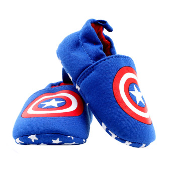 BABY STEPS Capt A Hero Baby Boy Cotton Shoes (Blue) - 4