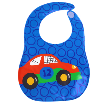 BABY STEPS Car12 Baby Feeding Washable Bib (Blue)