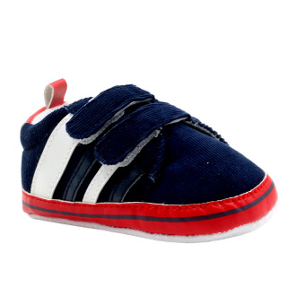 BABY STEPS Corduroy Baby Boy Shoes (Blue/Red)