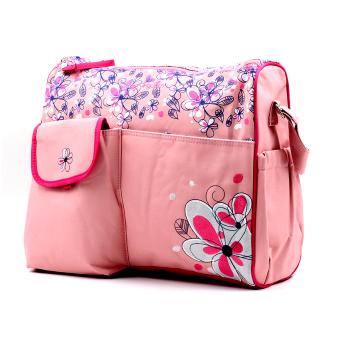 BABY STEPS Floral Baby Diaper Bag (Pink) Price Philippines
