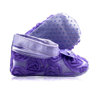BABY STEPS Flossy Ribbon Baby Girl Shoes (Purple) - 2