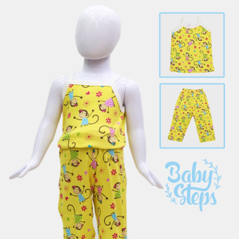 BABY STEPS FlowerLady Baby Clothes Girl Clothing Pajama Sets(Yellow)