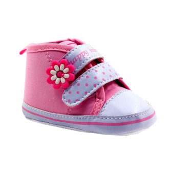BABY STEPS Happy Baby Dots Baby Girl Shoes (Pink) Price Philippines