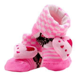 Baby Steps Hearty Boards Newborn Baby Girl Socks (Pink)