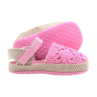BABY STEPS Knitted Baby Girl Sandals (Pink) - 3
