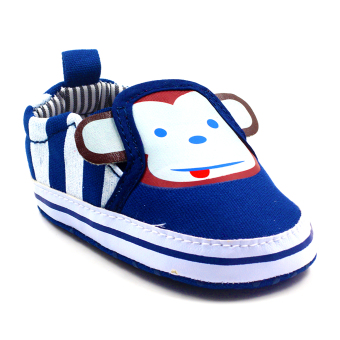 BABY STEPS Monkey Baby Boy Shoes (Blue) Price Philippines