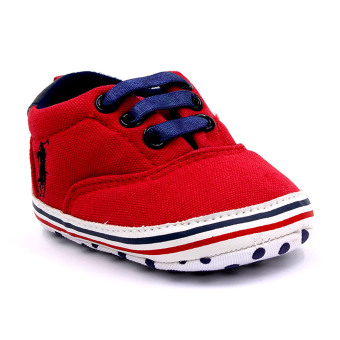 BABY STEPS PolDots Baby Boy Shoes (Red) - 2