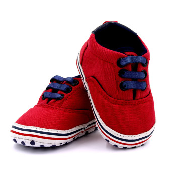 BABY STEPS PolDots Baby Boy Shoes (Red) - 4