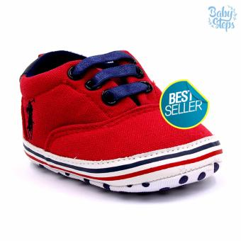 BABY STEPS PolDots Baby Boy Shoes (Red)