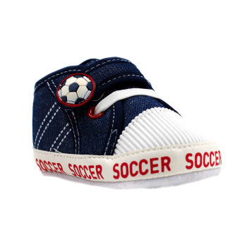 Baby Steps Soccer Baby Boy Shoes (Navy)