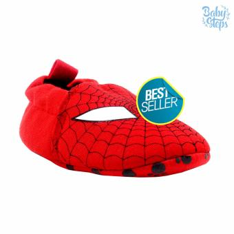 BABY STEPS Spidey Super Baby Boy Cotton Shoes (Red)