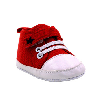 BABY STEPS Star Baby Boy Shoes (Red)
